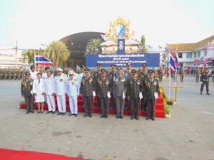 ร่วมพิธีสวนสนามวันกองทัพไทย